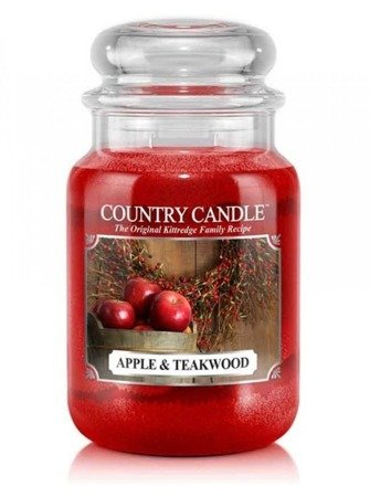 COUNTRY CANDLE Duży Słoik Apple & Teakwood