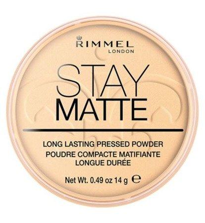 RIMMEL Stay Matte Puder Prasowany 003 Peach Glow 14g